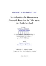 Investigating the Gamma-ray Strength Function in 74Ge using the